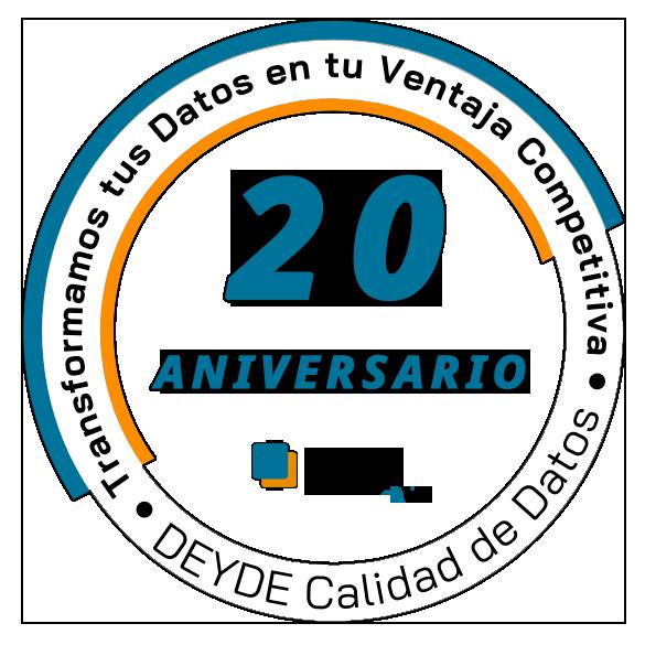 Logo DEYDE 20 aniversario